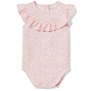 Janie and Jack Ditsy Floral Ruffle Bodysuit